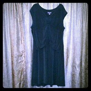 Signature by Robbie Bee, Black Dress, Size 24W